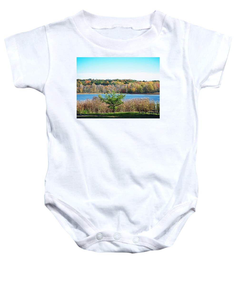 Autumn Baby Onesie featuring the photograph Natures Gift by Aimee L Maher ALM GALLERY