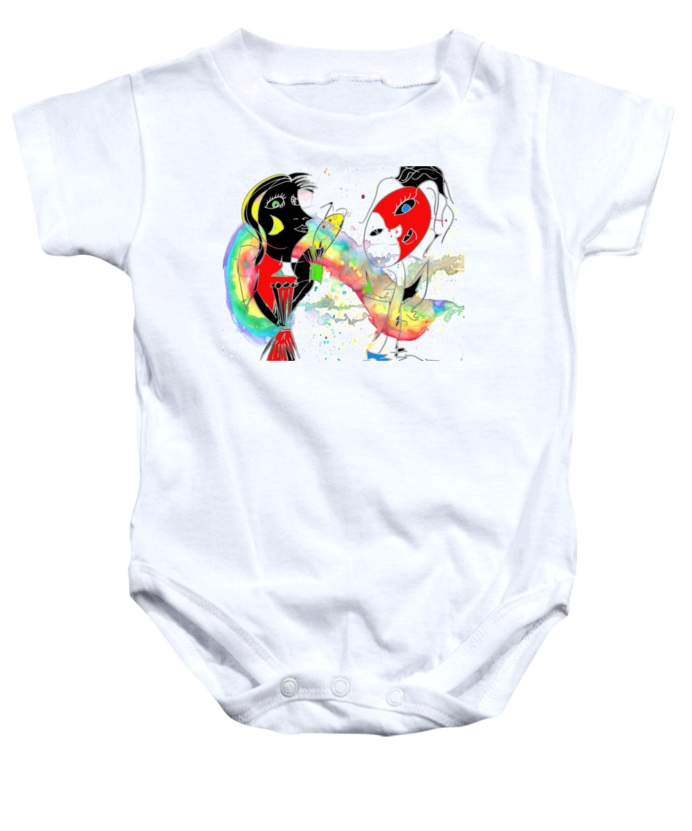 Abstract Baby Onesie featuring the photograph Nautical Day Slander by The Artist Project