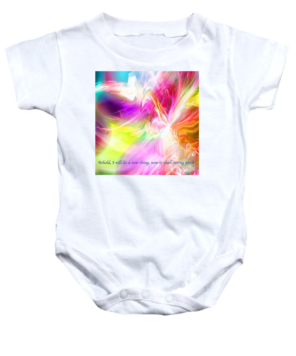 Abstract Baby Onesie featuring the digital art New Thing by Margie Chapman