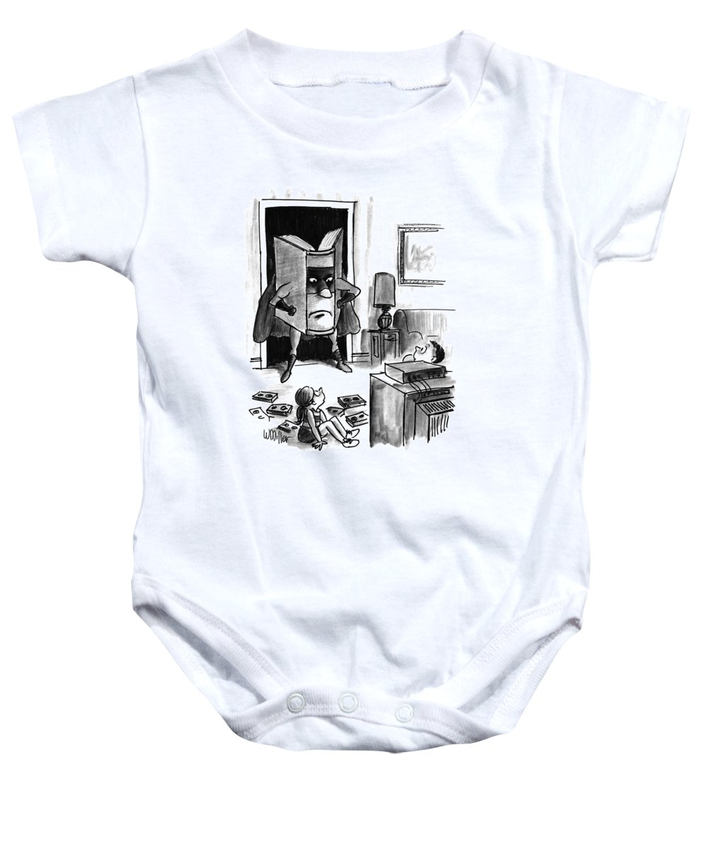 Entertainment Baby Onesie featuring the drawing New Yorker August 3rd, 1992 by Warren Miller