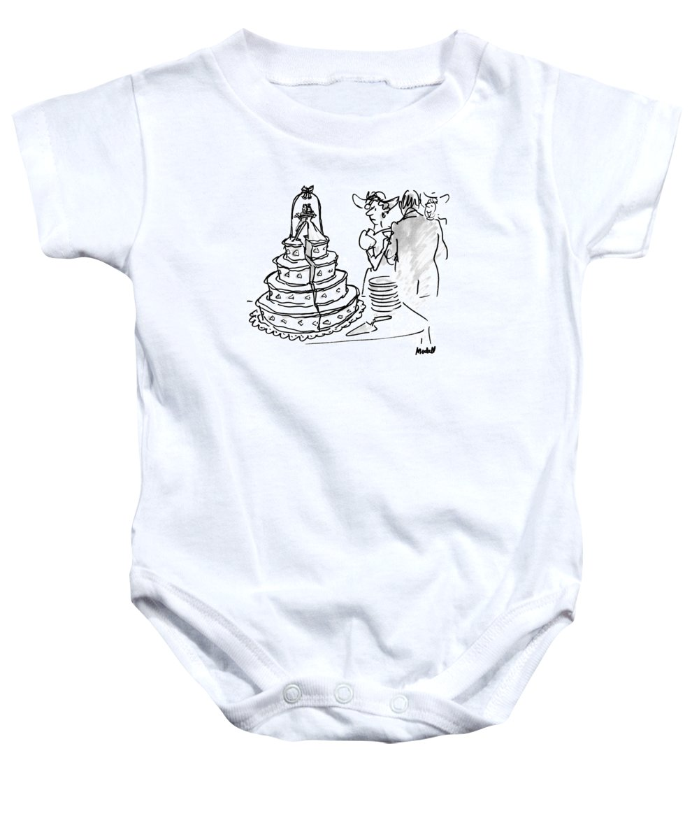 Relationships Baby Onesie featuring the drawing New Yorker June 1st, 1992 by Frank Modell