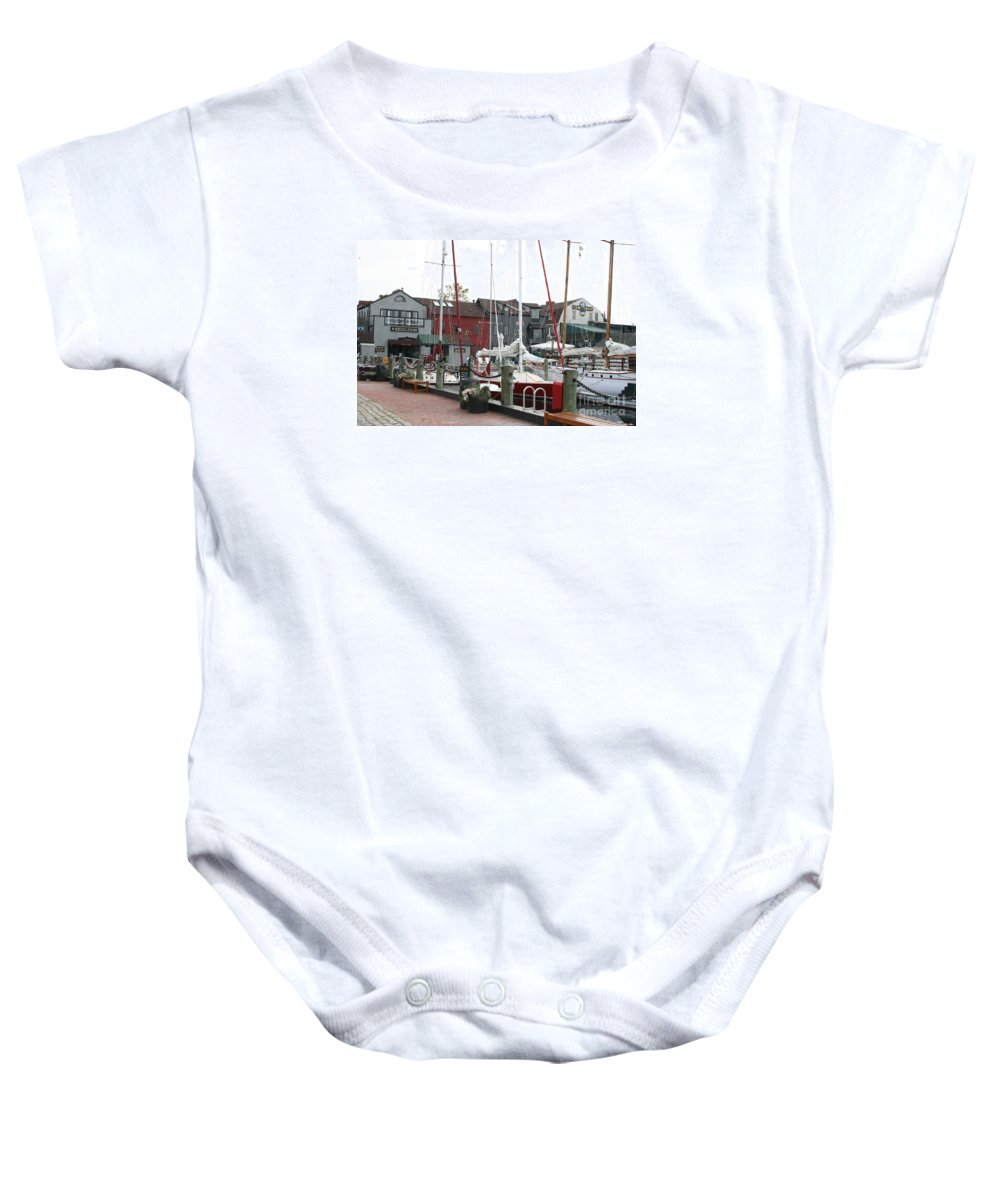 Habor Baby Onesie featuring the photograph Newport - Rhode Island by Christiane Schulze Art And Photography