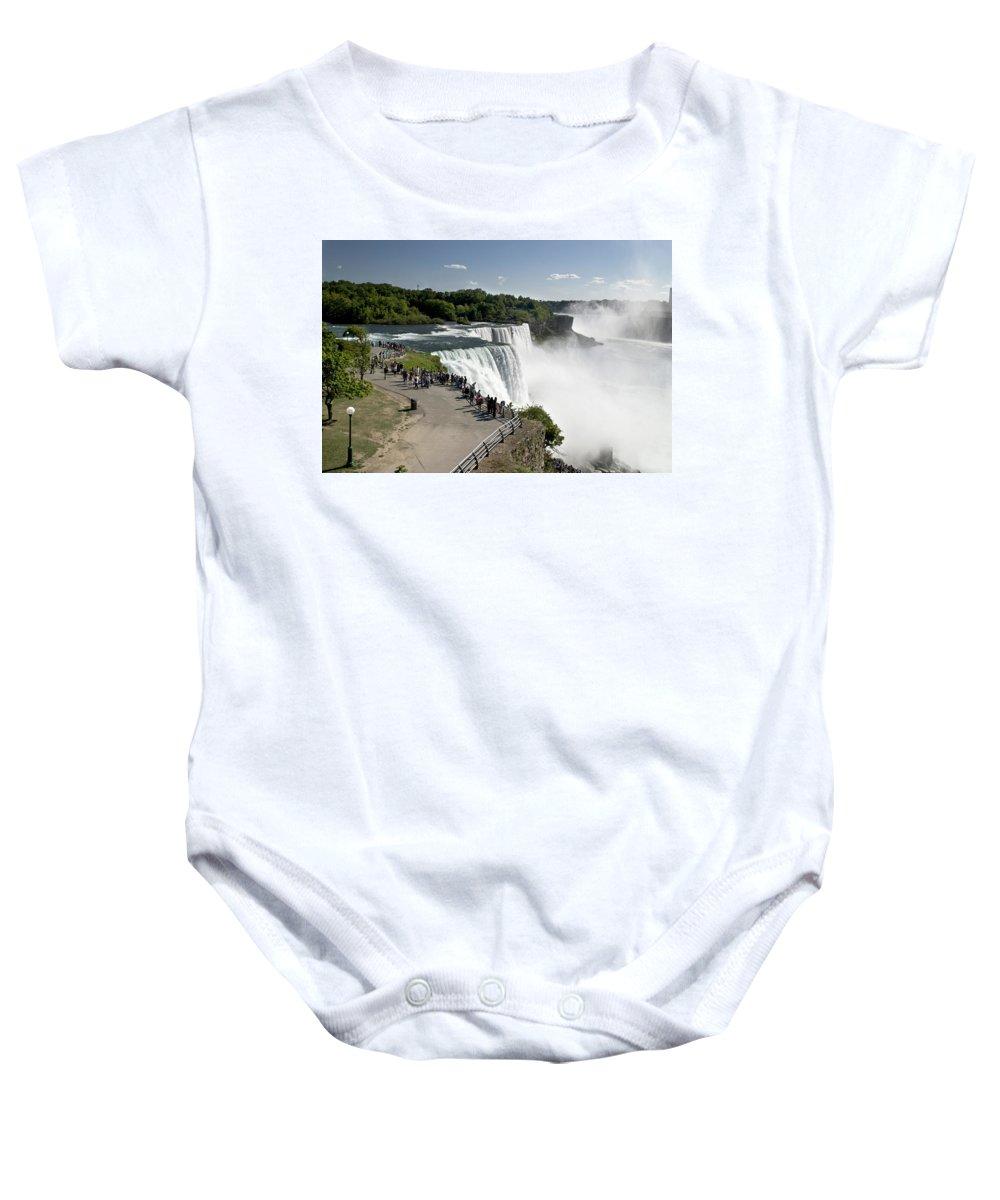 Niagara Baby Onesie featuring the photograph Niagara Falls - New York by Jatinkumar Thakkar