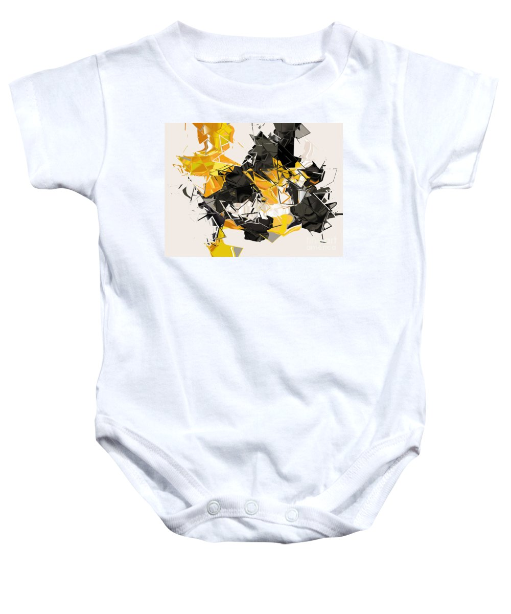 Baby Onesie featuring the digital art No. 343 by John Grieder