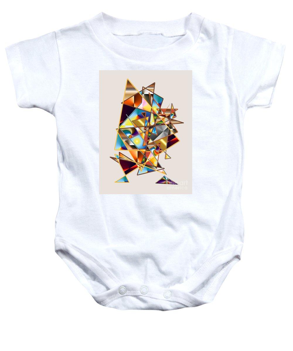 Baby Onesie featuring the digital art No. 648 by John Grieder