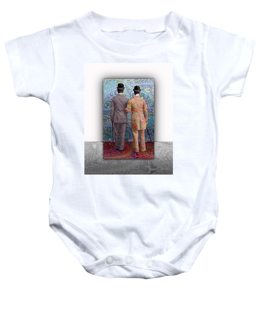 Gay Marriage Baby Onesie featuring the photograph No Borders by Richard Laeton