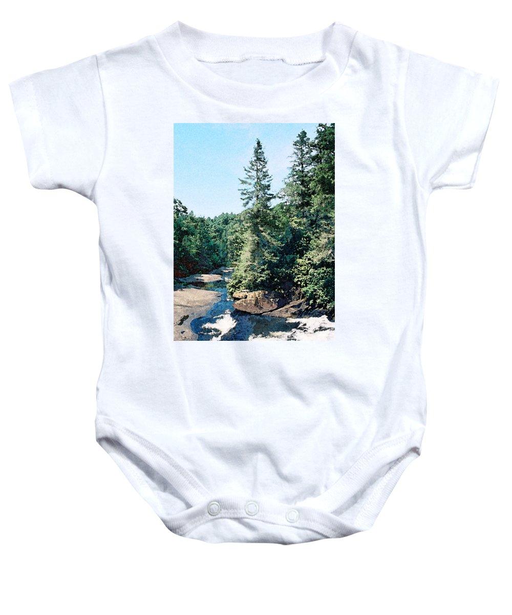 Landscape Baby Onesie featuring the digital art North Carolina Landscape by Steve Karol