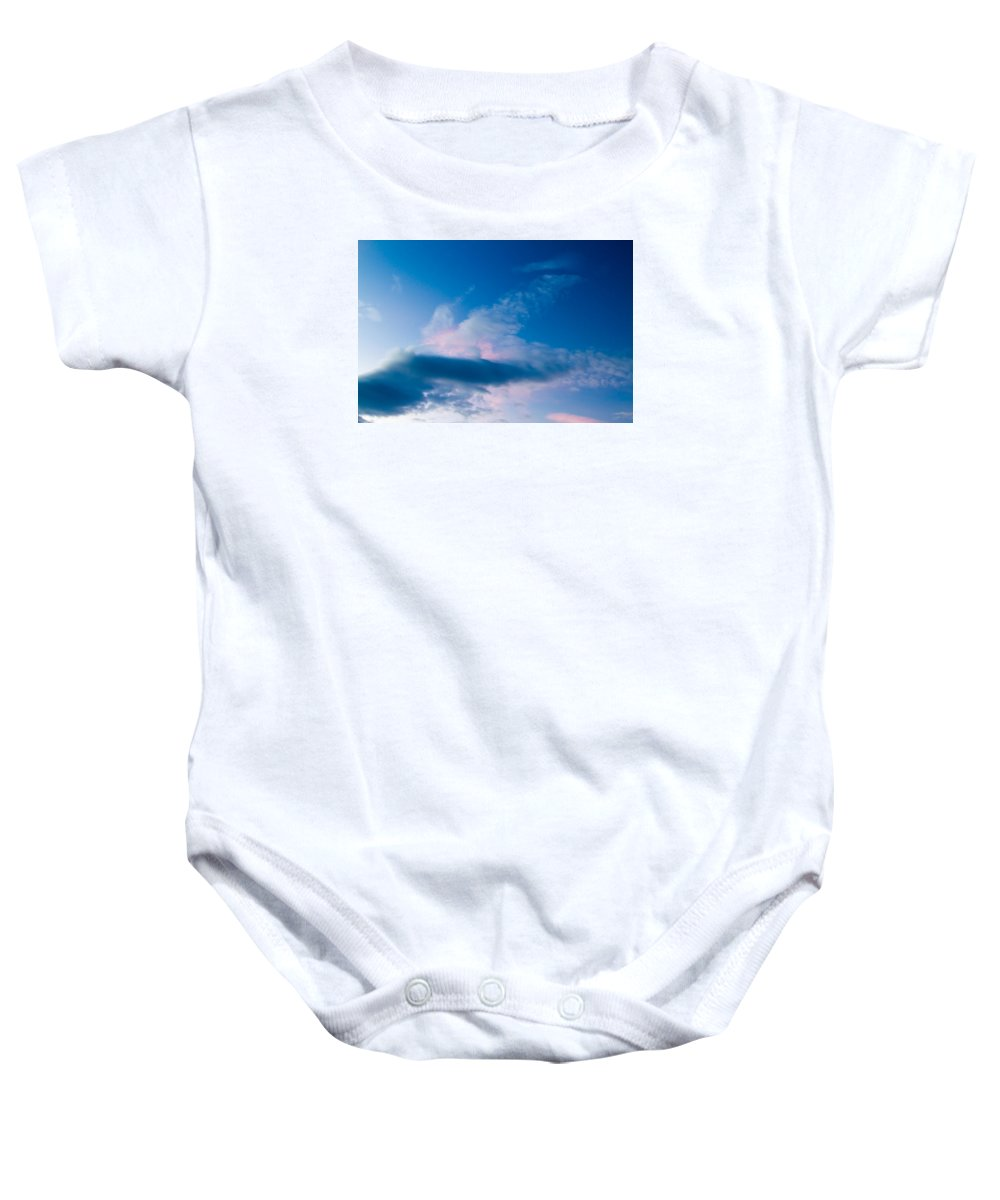 Sky Baby Onesie featuring the photograph November Clouds 005 by Agustin Uzarraga