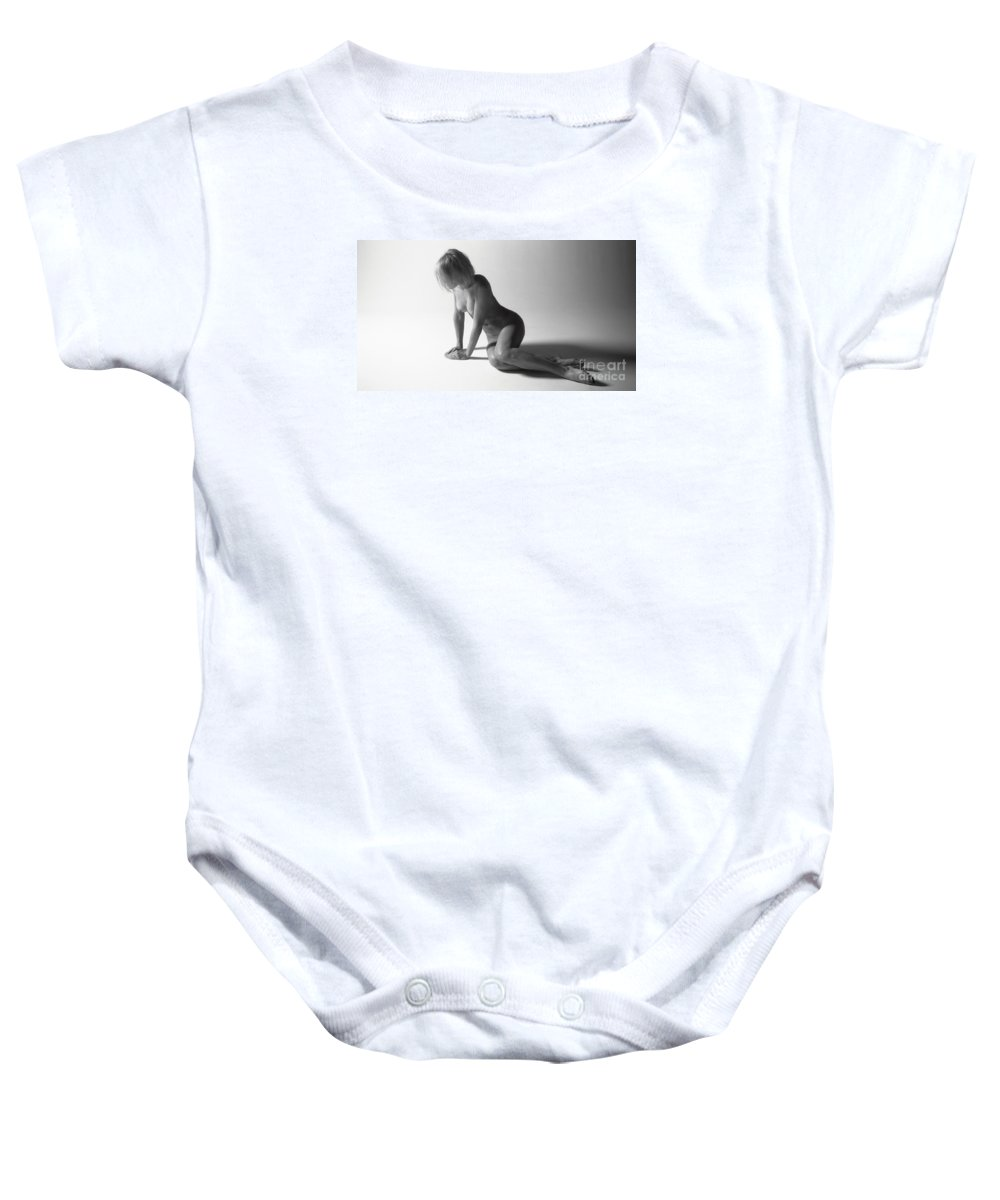 Timothy A. Bischoff Baby Onesie featuring the photograph Nude 0034 by Timothy Bischoff