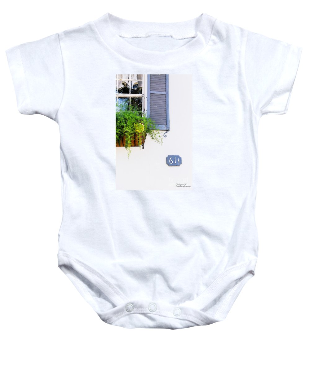 House Baby Onesie featuring the photograph Number 61 And A Quarter - Charleston S C - Travel Photographer David Perry Lawrence by David Perry Lawrence