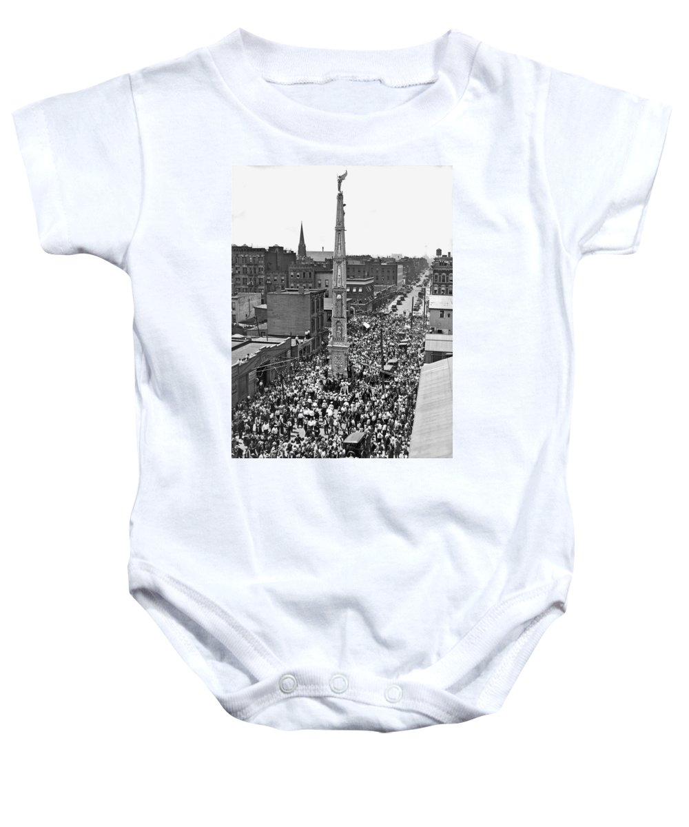 1927 Baby Onesie featuring the photograph Ny Celebration Of St. Paulino by Underwood Archives