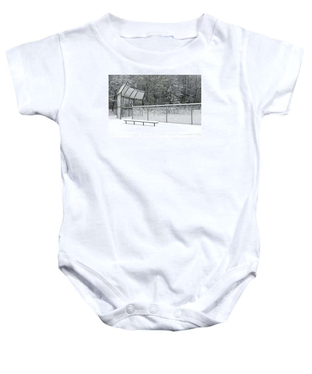 Winter Baby Onesie featuring the photograph Off Season by Ann Horn