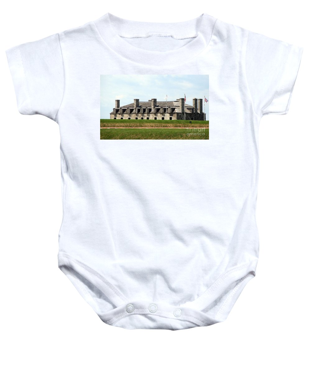 Old Fort Niagara Baby Onesie featuring the photograph Old Fort Niagara by Rose Santuci-Sofranko