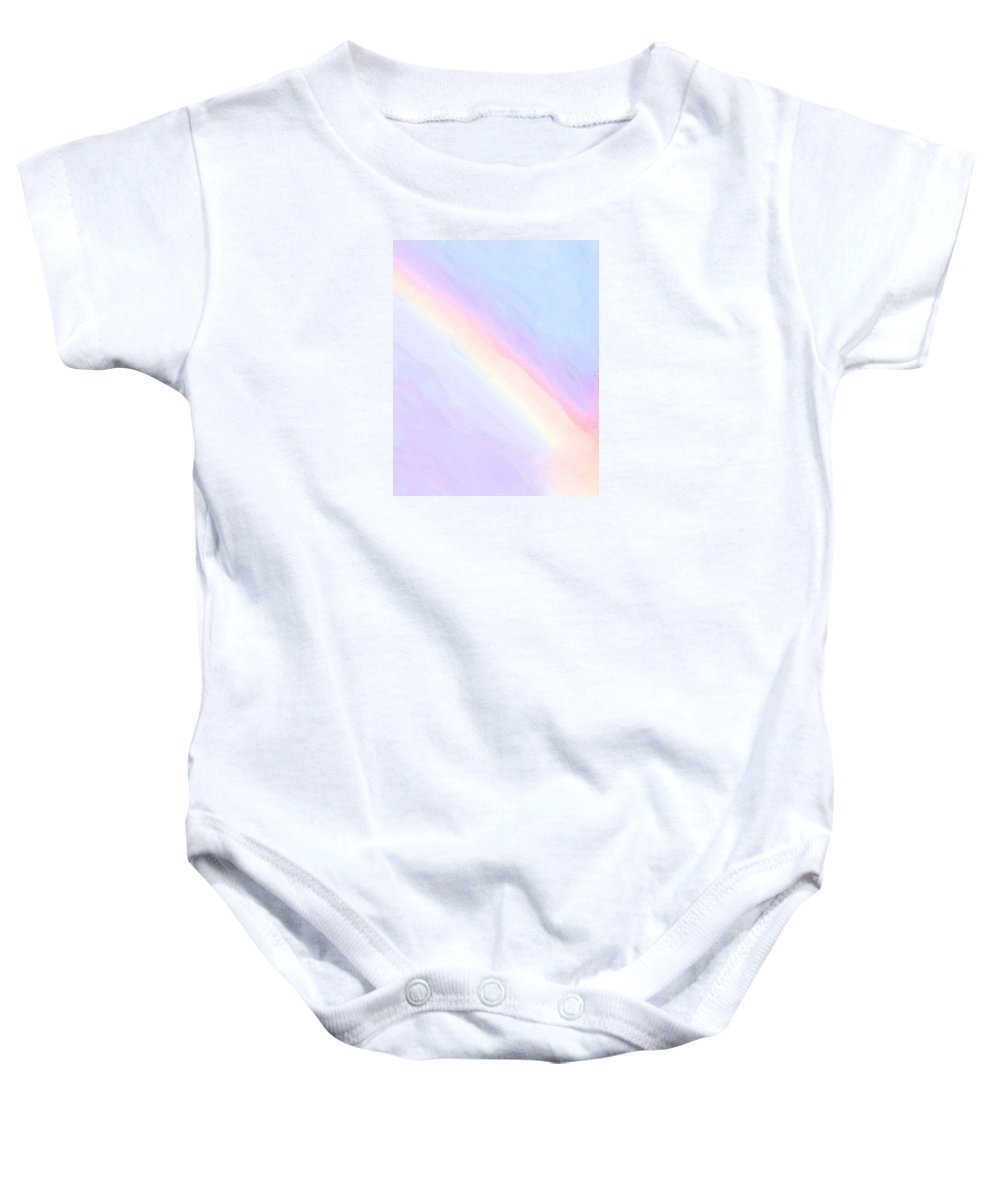Rainbow Baby Onesie featuring the photograph Old Rainbow's Arch by T Byron K