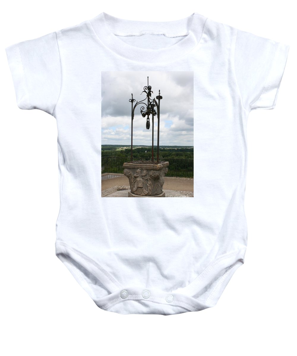 Well Baby Onesie featuring the photograph Old Well Chateau Chaumont by Christiane Schulze Art And Photography