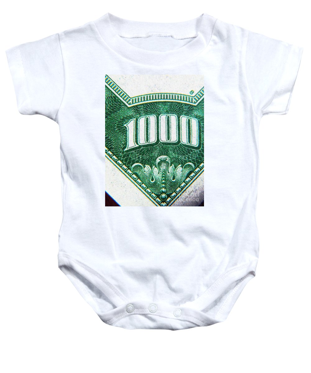 Money Baby Onesie featuring the photograph One K by Chris Berry