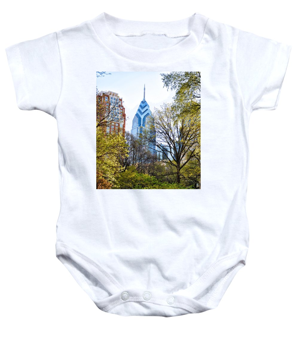 One Baby Onesie featuring the photograph One Liberty Place by Bill Cannon