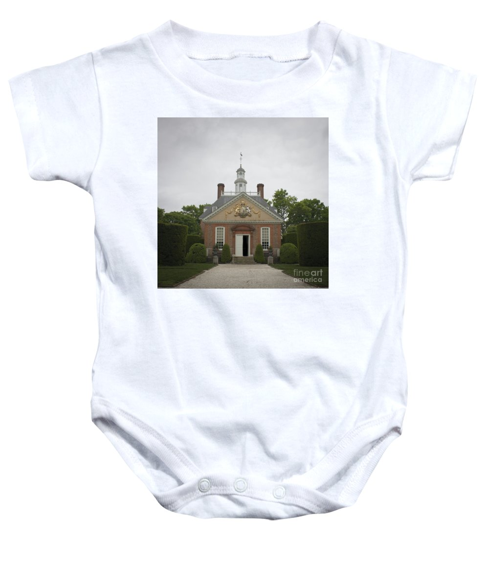 Williamsburg Baby Onesie featuring the photograph Open Door Squared by Teresa Mucha