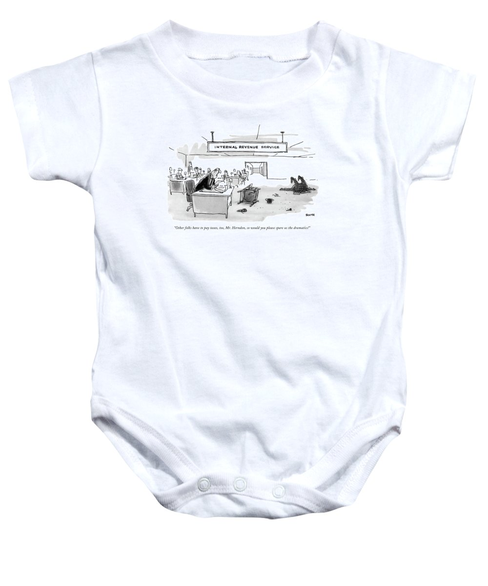 Other Folks Have To Pay Taxes Onesie for Sale by George Booth
