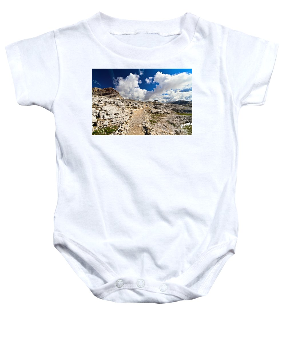 Alpine Baby Onesie featuring the photograph Pale Di San Martino Plateau by Antonio Scarpi