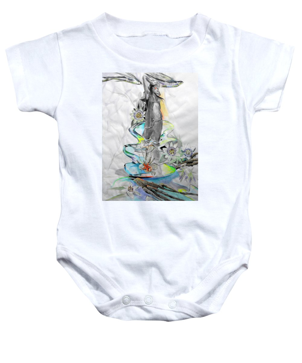 Lucia Hoogervorst Baby Onesie featuring the painting Passion by Lucia Hoogervorst