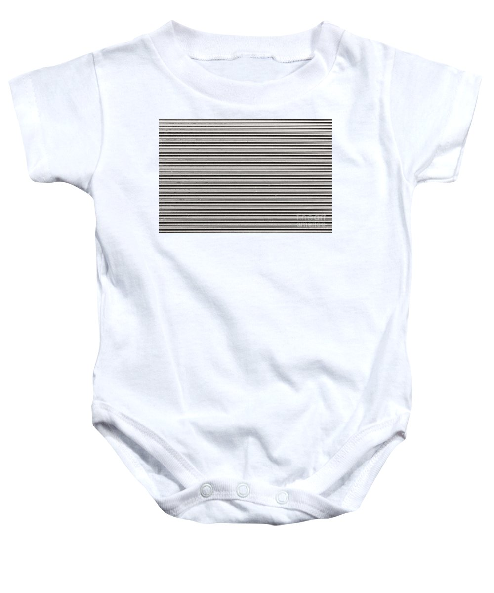 Corrugated Baby Onesie featuring the photograph Pattern - Corrugated Metal by Les Palenik