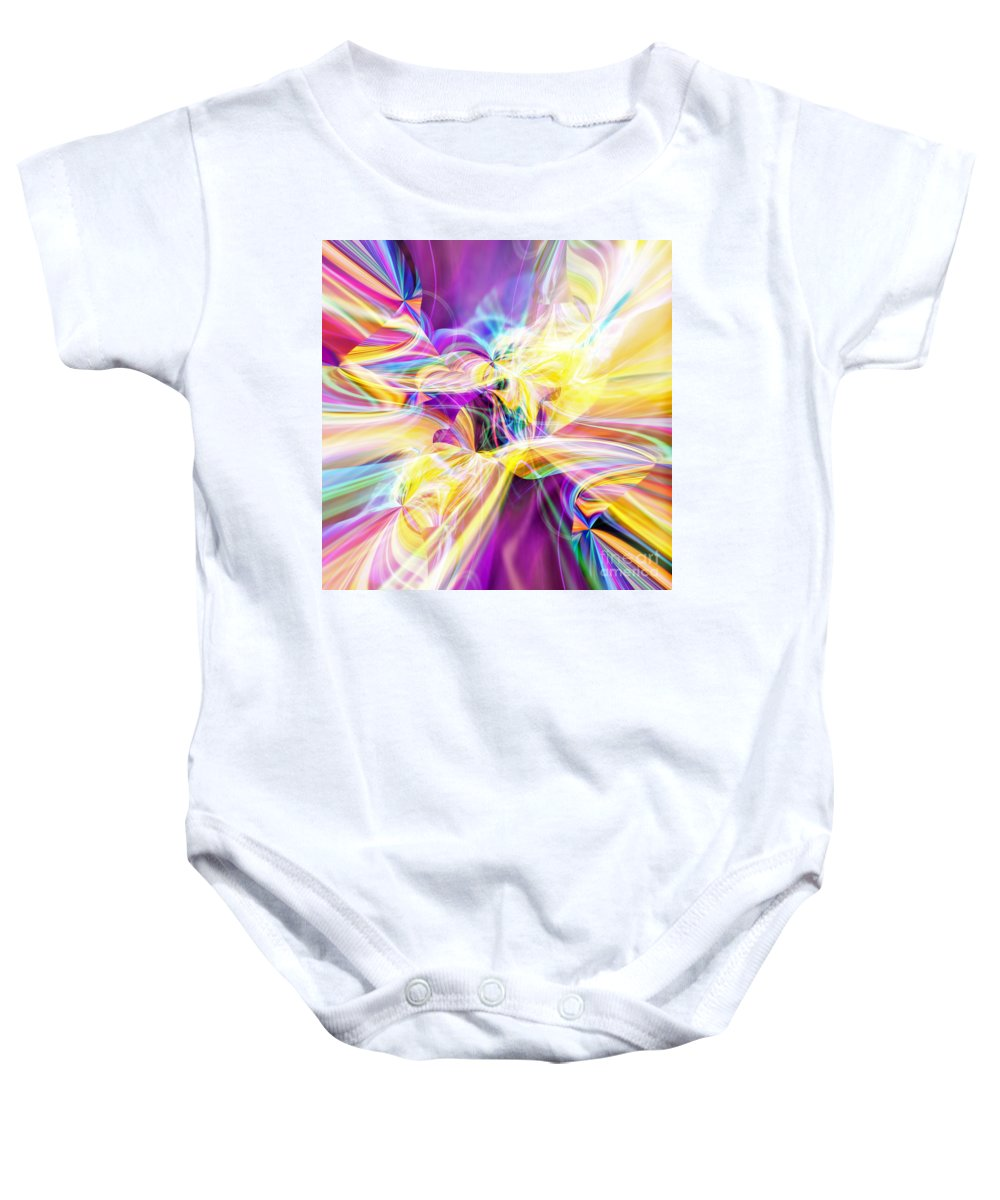 Peace Baby Onesie featuring the digital art Peace by Margie Chapman