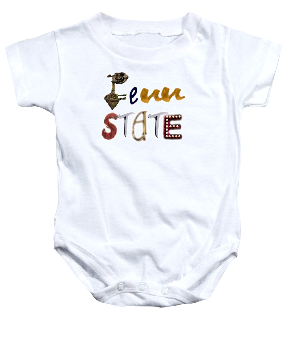Penn State University Baby Onesie featuring the photograph Penn State by Tom Gari Gallery-Three-Photography