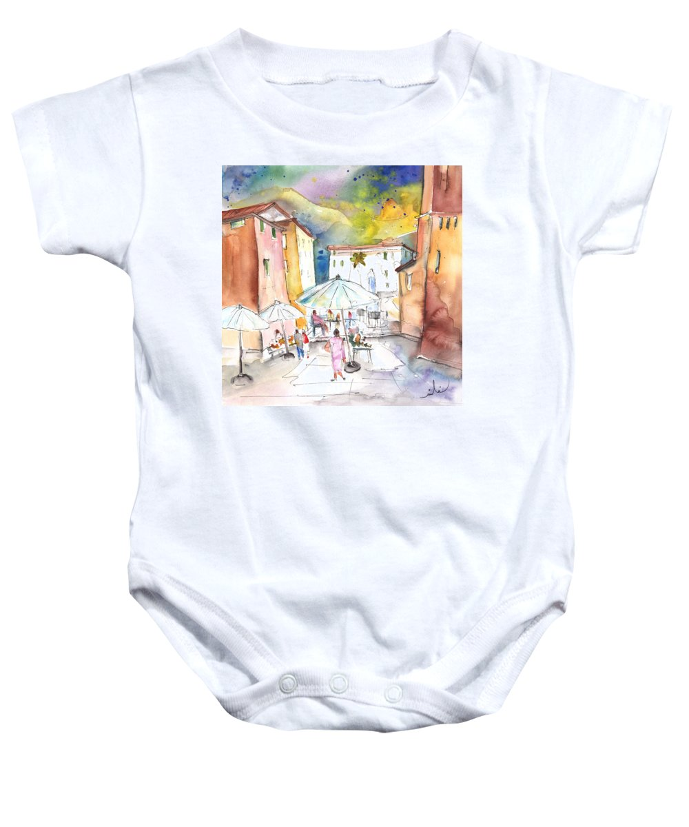 Italy Baby Onesie featuring the painting Pietrasanta In Italy 03 by Miki De Goodaboom