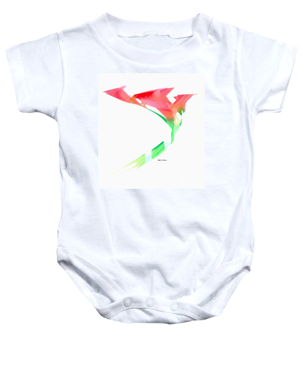 Pink Baby Onesie featuring the digital art Pink Calla Lilies by Rafael Salazar