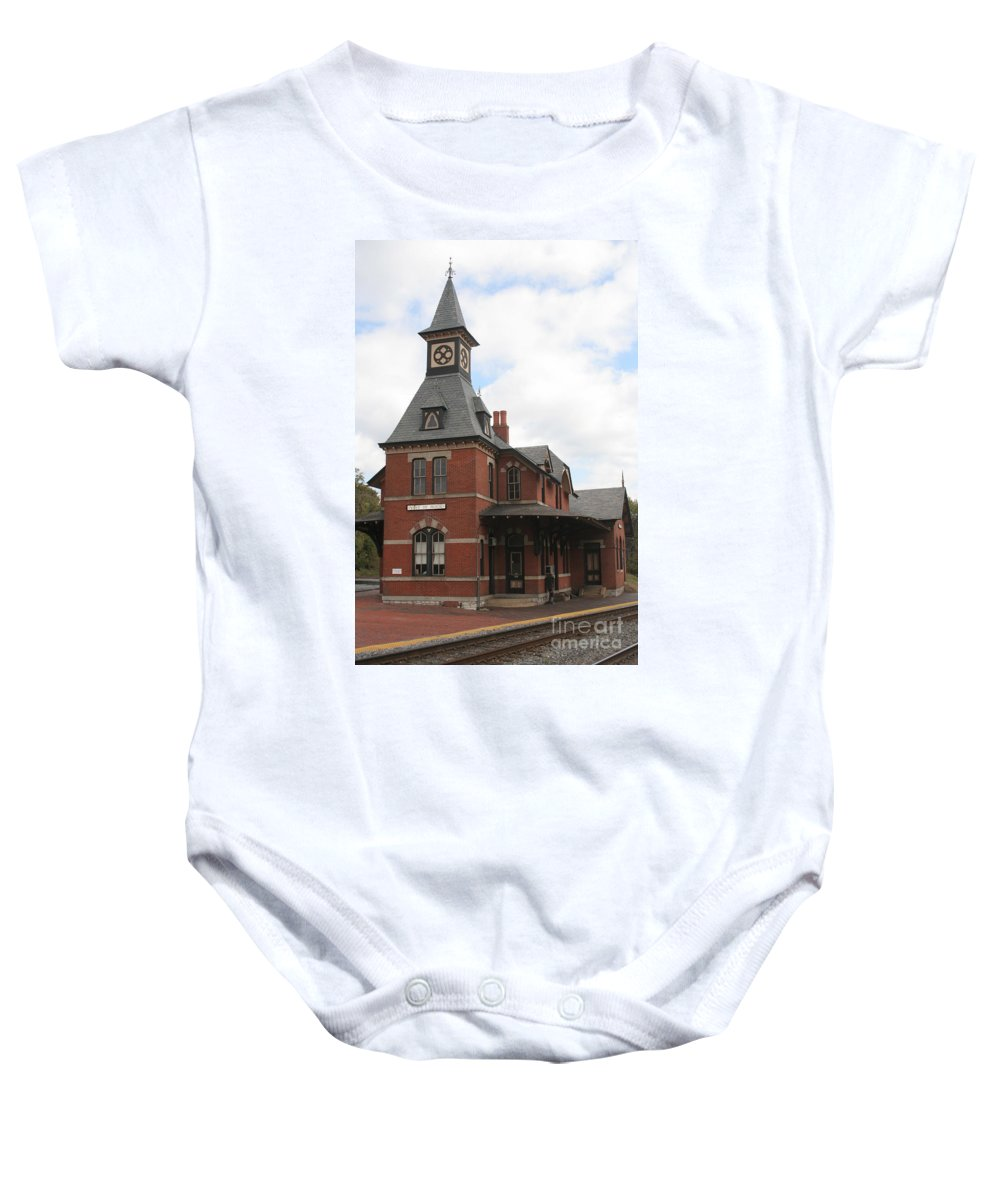 Train Baby Onesie featuring the photograph Point Of Rocks by Thomas Marchessault