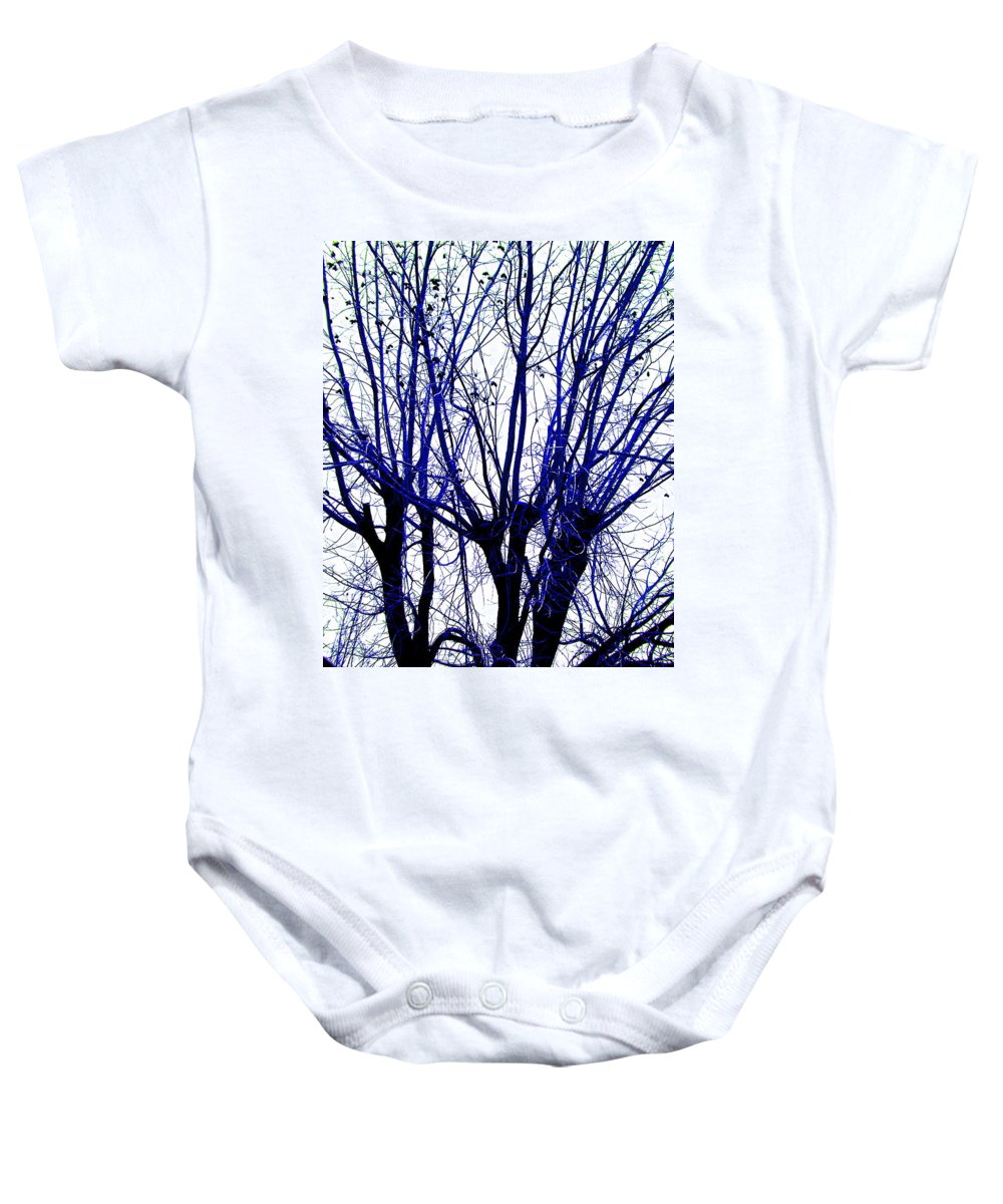 Blue Baby Onesie featuring the photograph Vessels Of Blue by M Pace