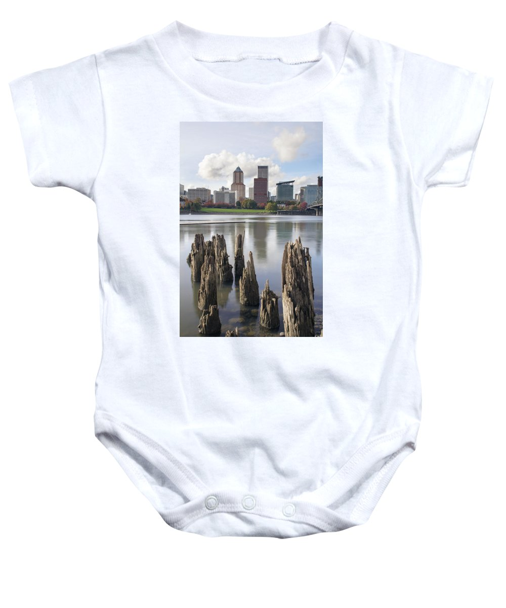 Portland Baby Onesie featuring the photograph Portland Oregon Waterfront by Jit Lim