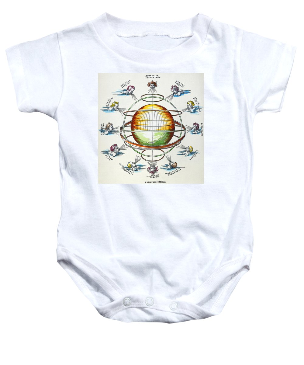 1525 Baby Onesie featuring the photograph Ptolemaic Universe, 1525 by Granger