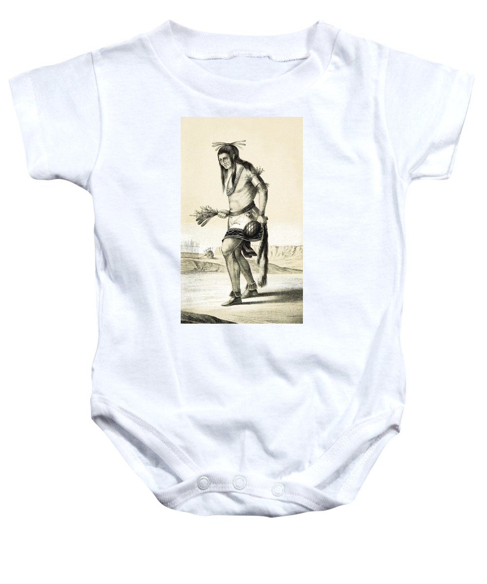 History Baby Onesie featuring the photograph Pueblo Zuni Buffalo Dance, 1850s by British Library