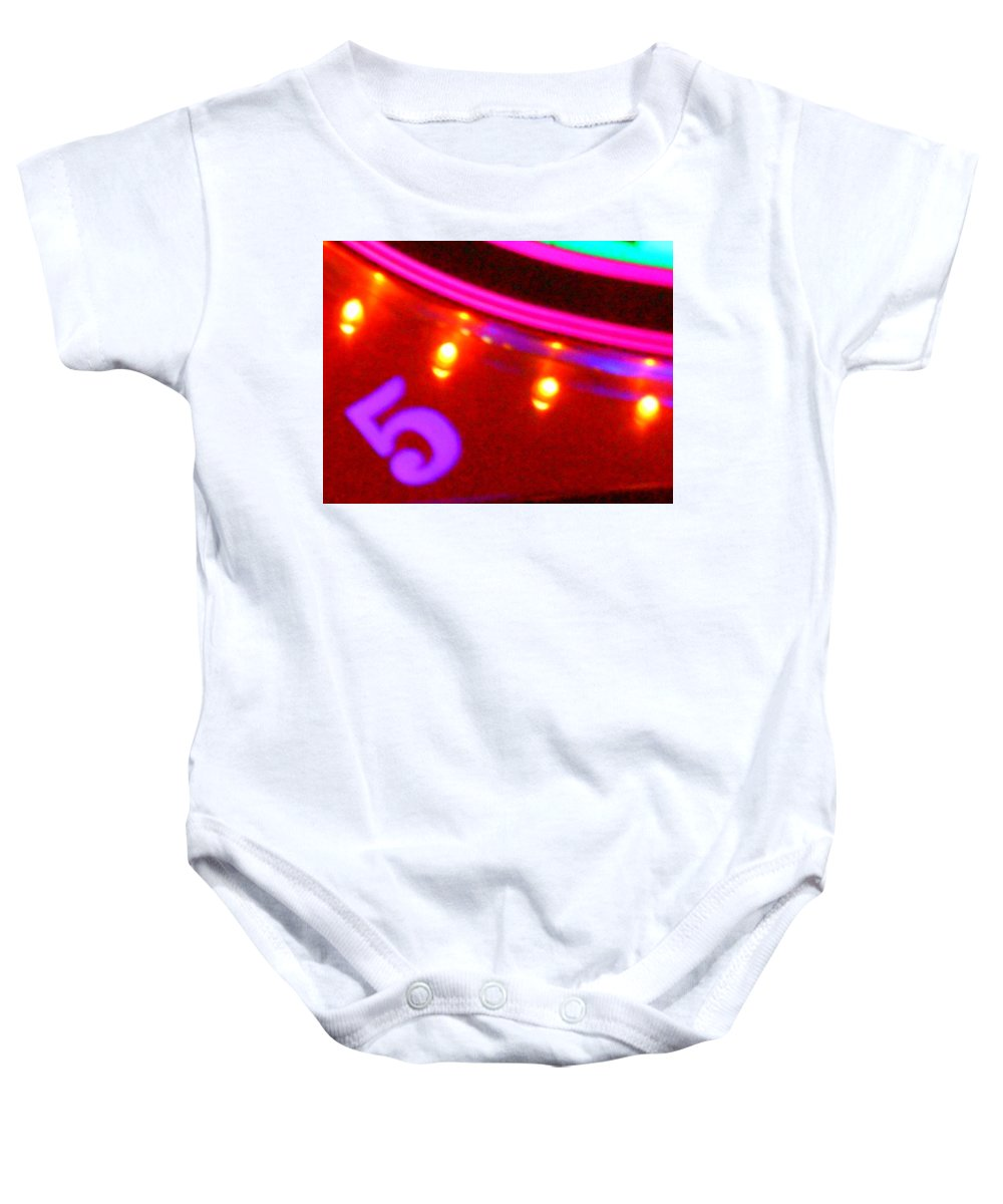 Color Baby Onesie featuring the photograph Purple Five by James Welch