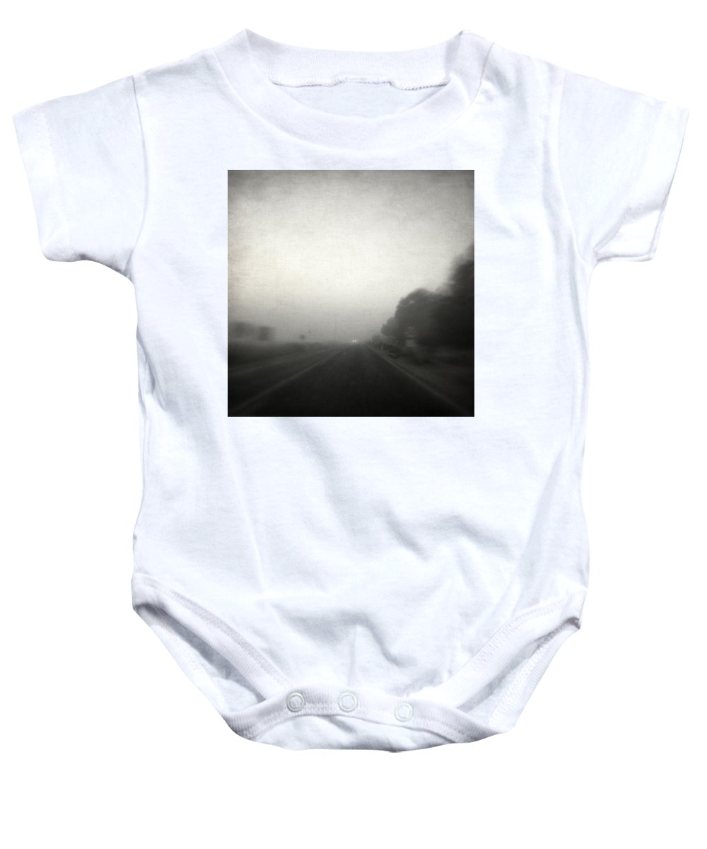 Road Baby Onesie featuring the photograph Real by Zapista