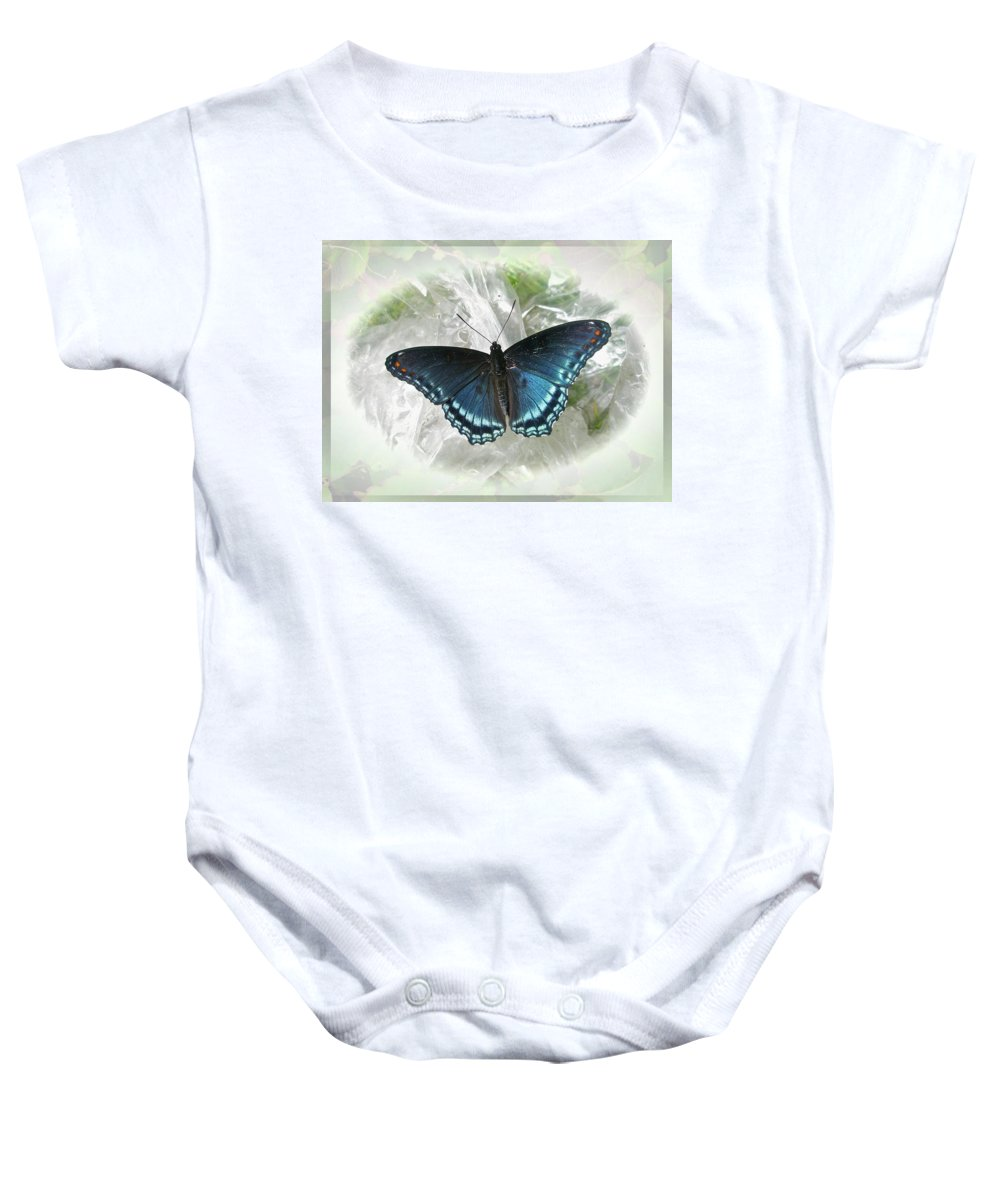Butterfly Baby Onesie featuring the photograph Red-spotted Purple Butterfly - Limenitis Arthemis by Mother Nature