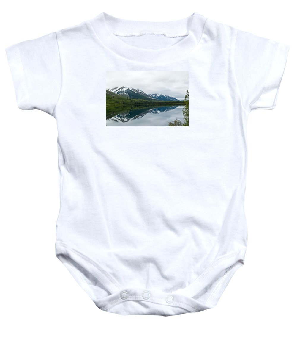 Montana Baby Onesie featuring the photograph Reflection Montana by Jeffrey Akerson