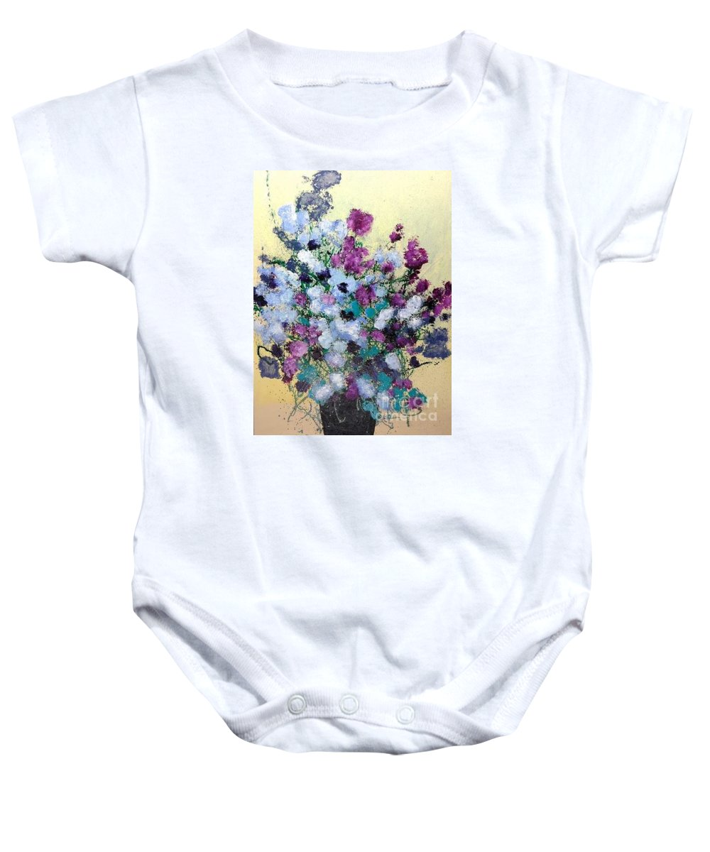 Landscape Baby Onesie featuring the painting Remembering When by Allan P Friedlander