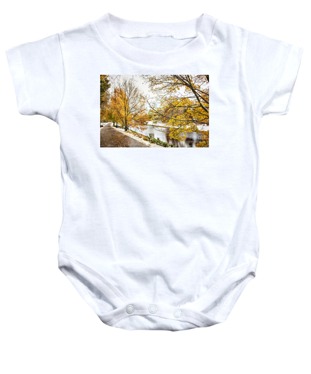 Europe Baby Onesie featuring the photograph Riga Central Park by Sophie McAulay