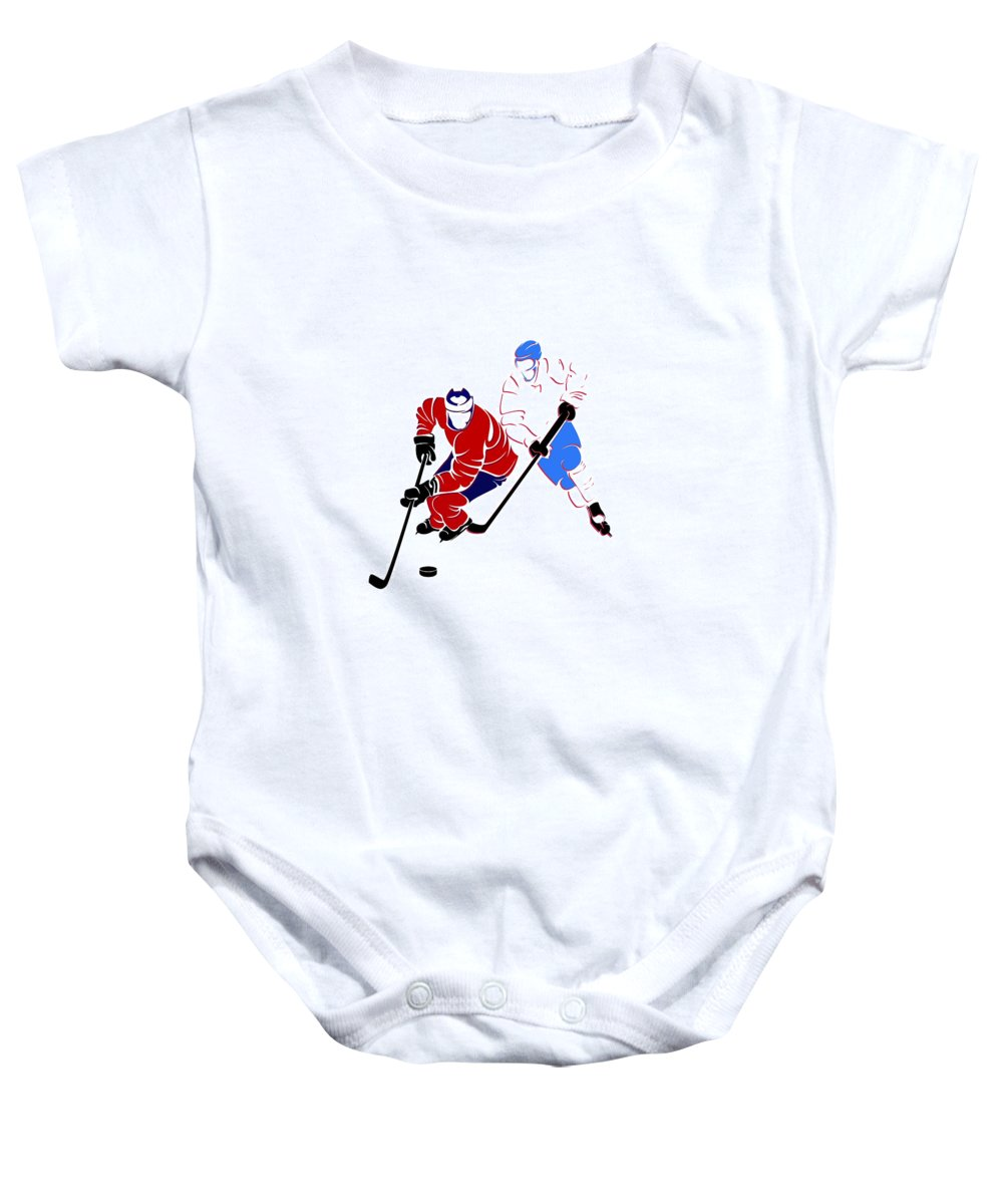 Canadiens Baby Onesie featuring the photograph Rivalries Canadiens And Nordiques by Joe Hamilton