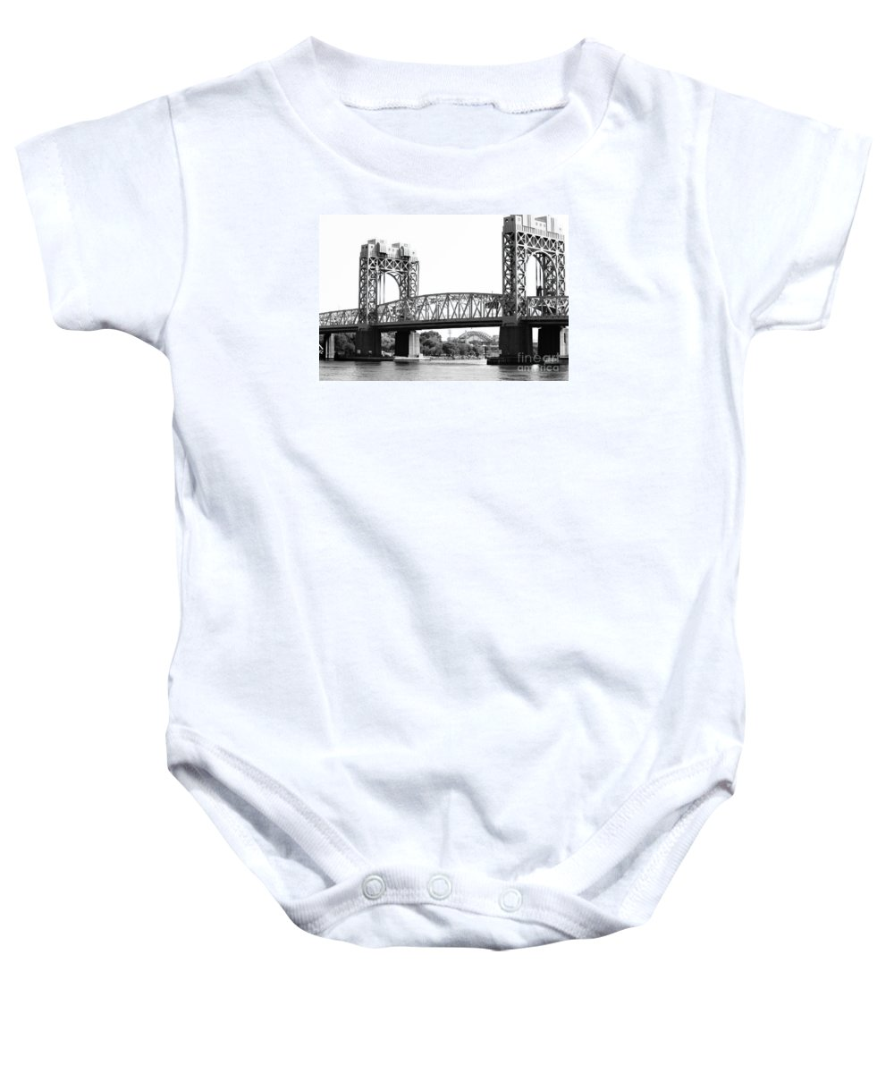 New York Baby Onesie featuring the photograph Robert F. Kennedy Bridge by Robert Yaeger