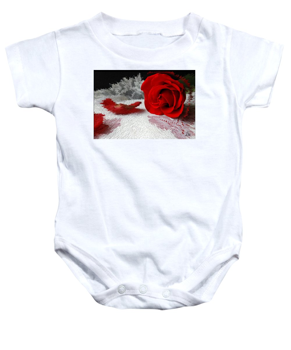 Red Rose Baby Onesie featuring the photograph Roses Are Red2 by Bonnie Willis