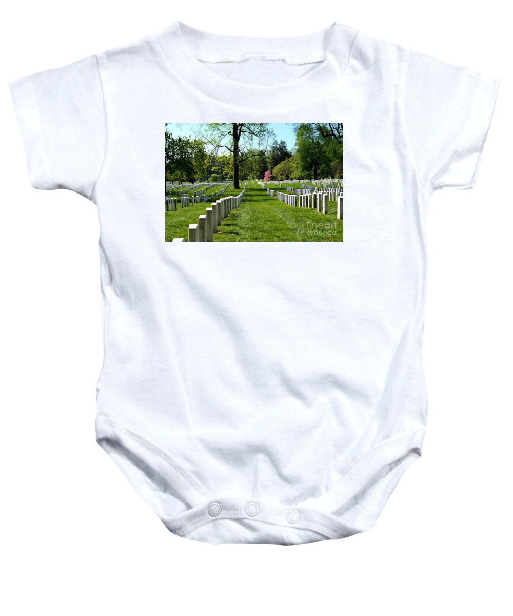 Row Upon Row Baby Onesie featuring the photograph Row Upon Row by Patti Whitten