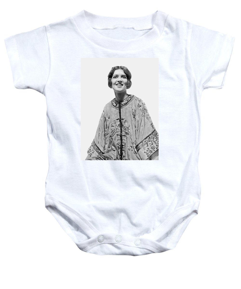 1925 Baby Onesie featuring the photograph Russian Princess Opera Debut by Underwood Archives