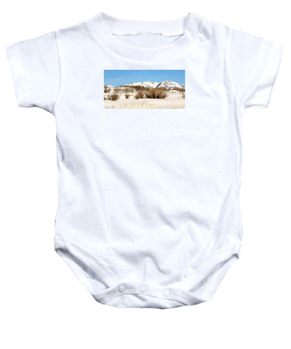 San Juan Mountains Baby Onesie featuring the photograph San Juan Mountains No. 1 by Annie Adkins