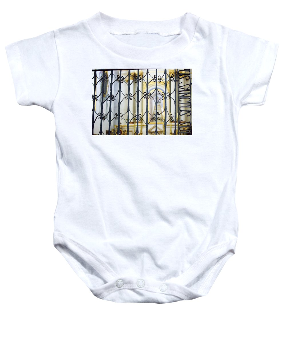Sistine Chapel Of Mexico Baby Onesie featuring the photograph Sanctuary Atotonilco by Cathy Anderson