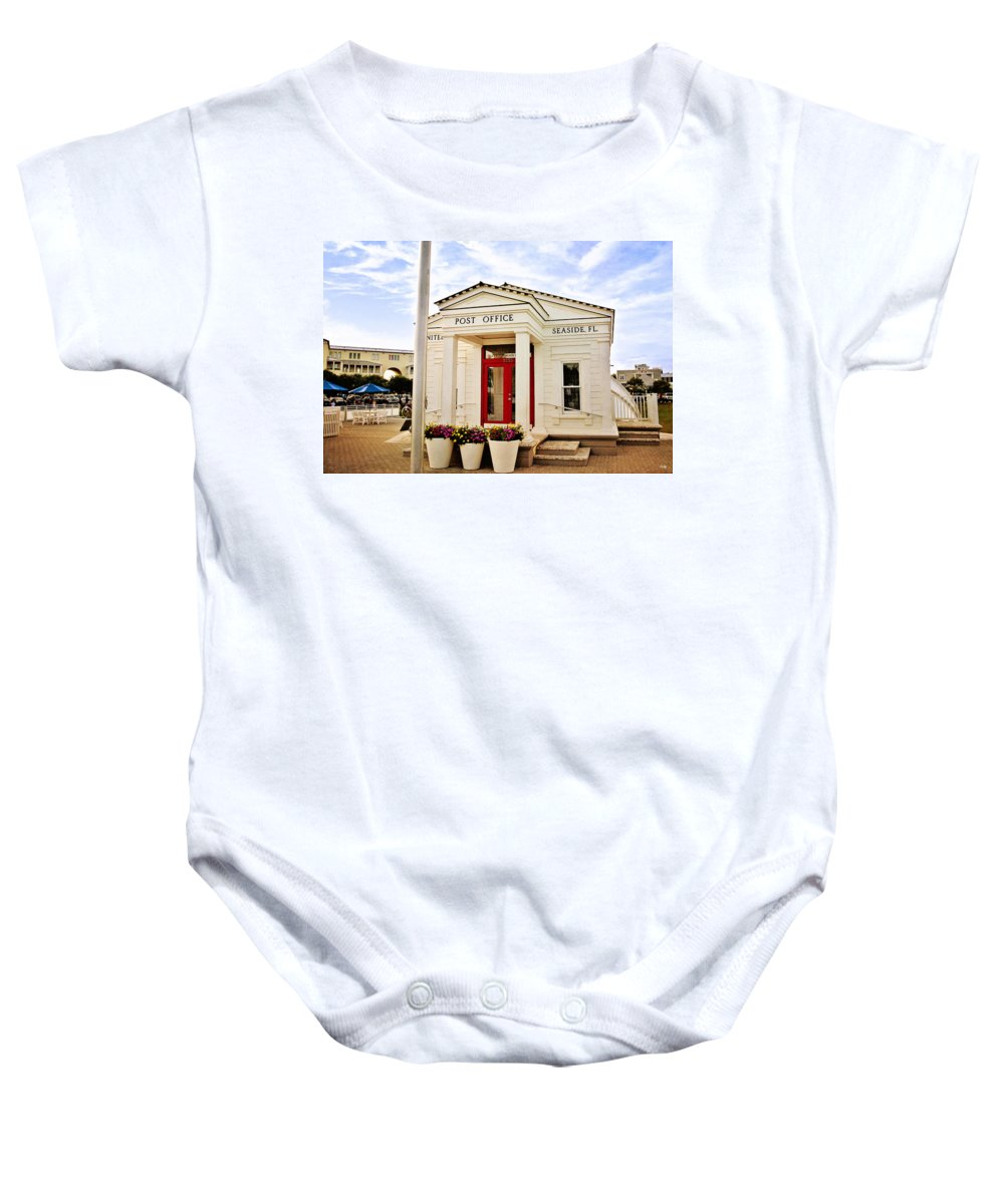 Seaside Florida Baby Onesie featuring the photograph Seaside Post Office by Scott Pellegrin