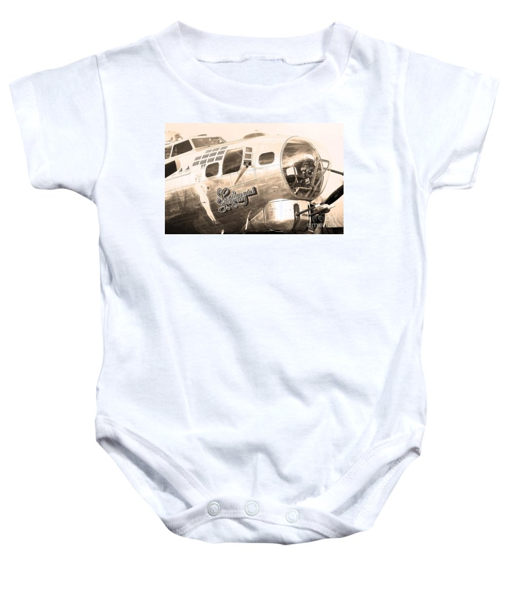Sentimental Journey Baby Onesie featuring the photograph Sentimental Journey by Steven Reed